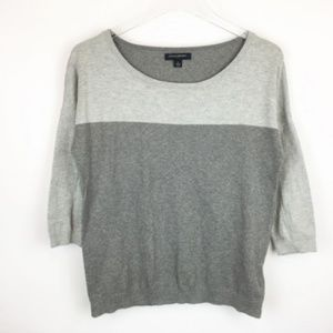 CLEARANCE BR Angora Colorblock Sweater Gray S